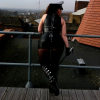 Pathetic Slave Worshipping Mistress Joanna Lark on Her Roof Dungeon