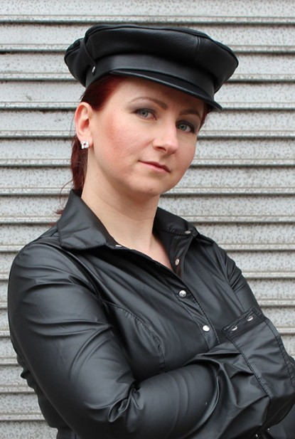 Soft Leather Biker Hat