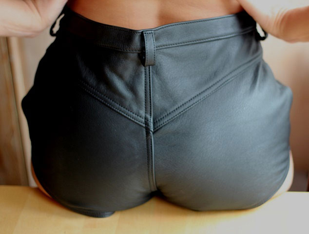 Leather Shorts in Classic Style