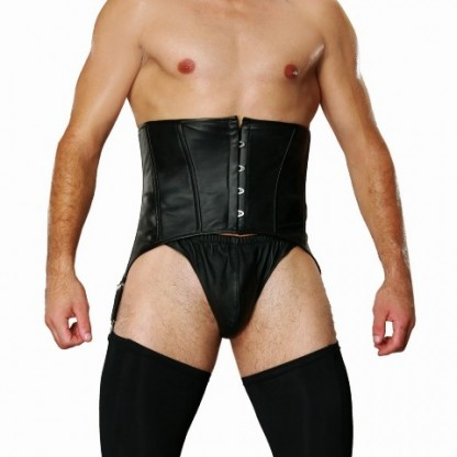 Mens Underbust Leather Corset