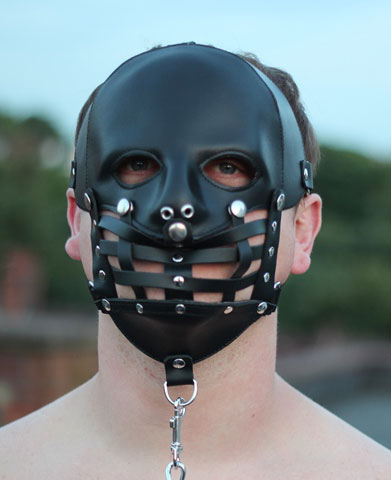 Leather Cage Mask
