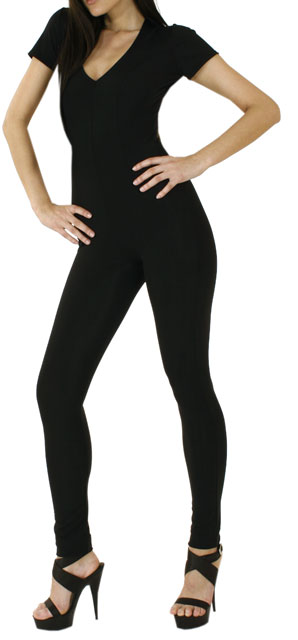 Lycra Catsuit with Short Sleeves