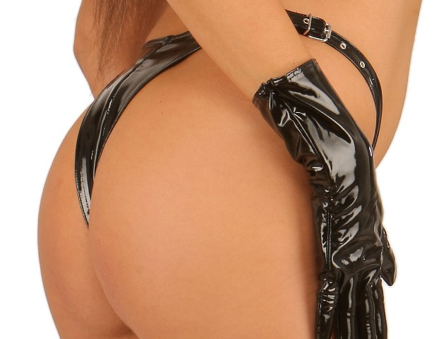 Sexy G-String in PVC with Buckles
