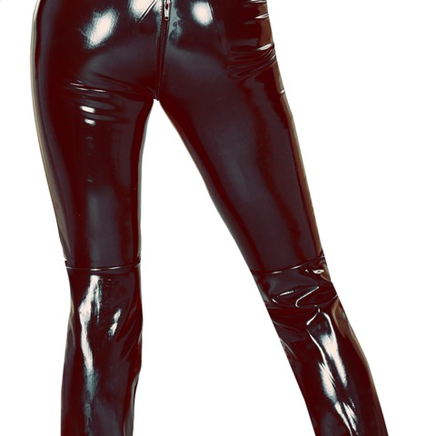 Sleeveless Catsuit in Twisted Latex