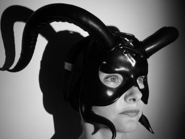 "Leather Mask ""Demon"""