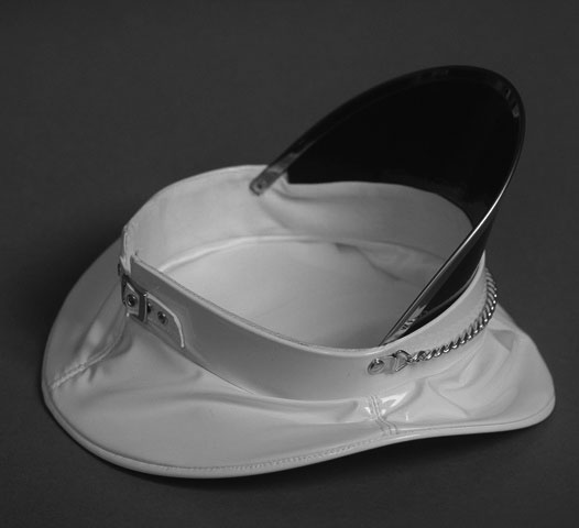 Dominatrix Hat in White PVC