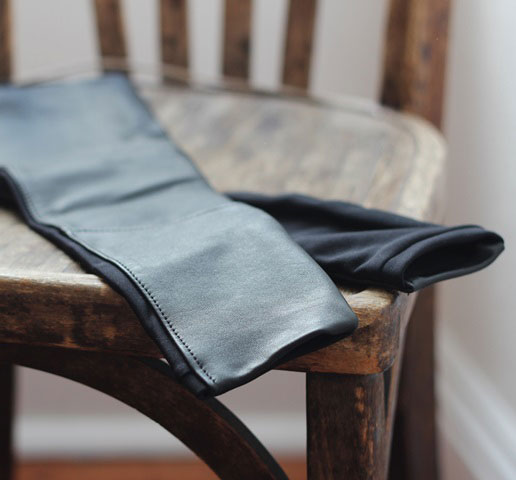 Leather Sleeves with Lycra Inserts