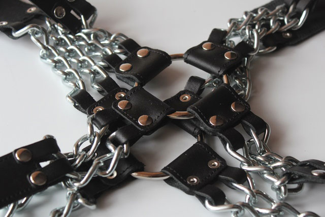 Upper Body BDSM Harness with Chains