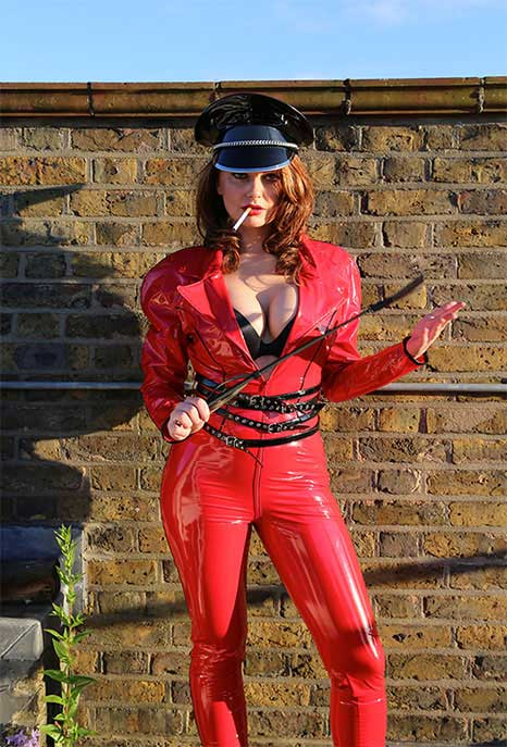 Shiny PVC Catsuit Military Style