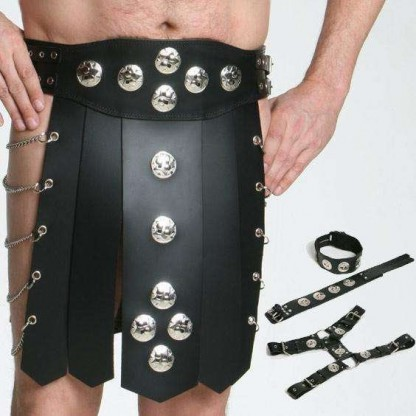 Gladiator Skirt in Thick Leather