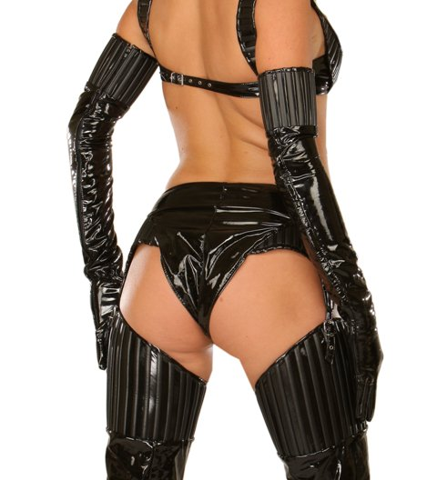Long Opera Gloves with Strappy Finishing