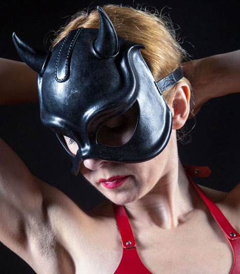 Devilish Leather Eye Mask