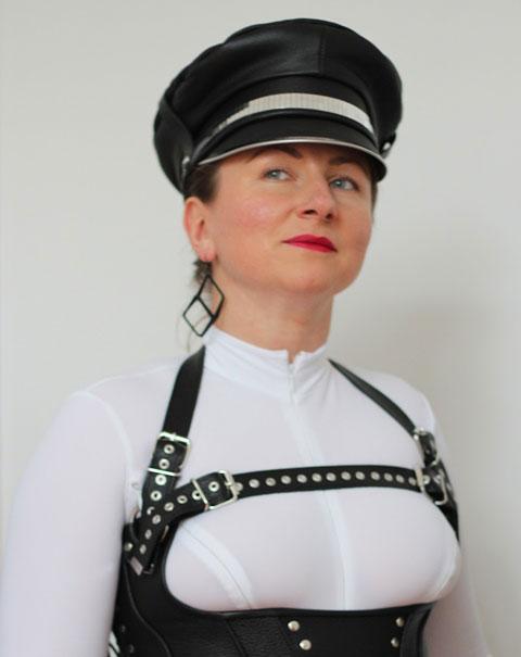 Leather Biker Gay Hat