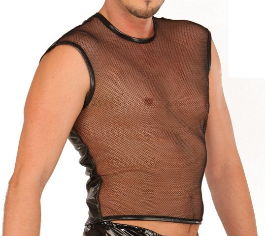 PVC Top with Fishnet Front