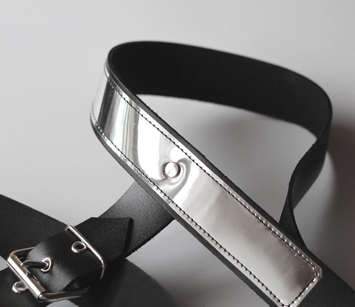 BDSM Chest Harness with Metallic Top