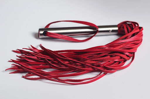 "18"" Leather Flogger with Steel Handle"