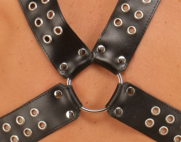 Leather Bondage Top Harness with Eyelets