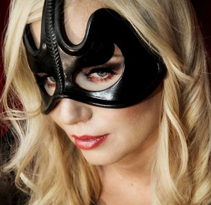 Leather Eye Mask with Sting