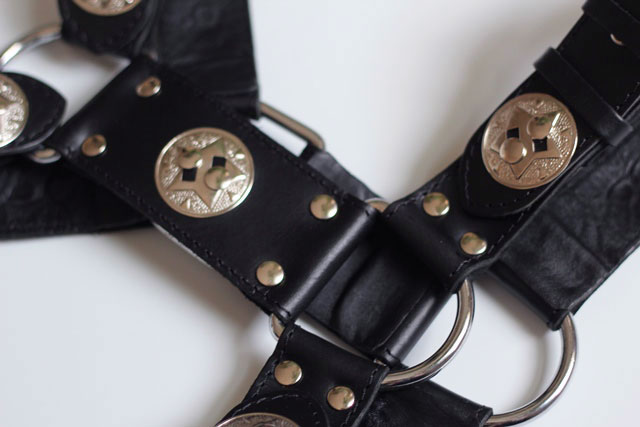 Bondage Harness in Leather for Gladiator