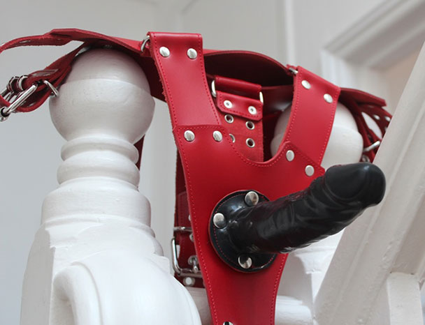 Bondage Harness with Strap-On Dildo
