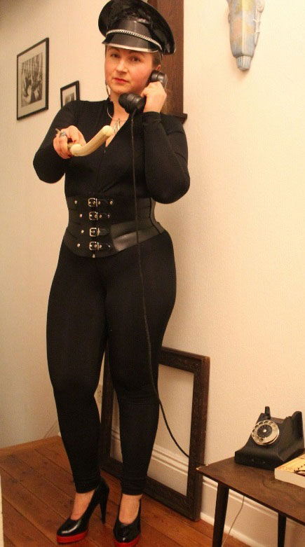 Lycra Catsuit with Revealed Breasts