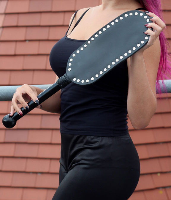 Studded Leather Paddle 21 inch