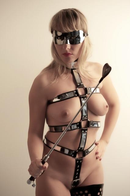 Bondage Harness with Metallic Layer