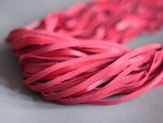 Heavy BDSM Flogger with 60 Leather Tails