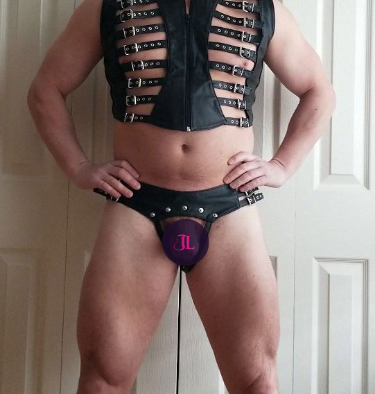 Leather Thong with Removable Sack