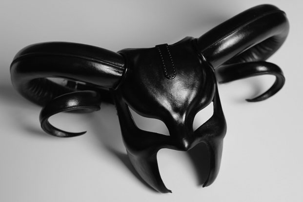 """Leather Mask with Horns """"Satyr"""""""