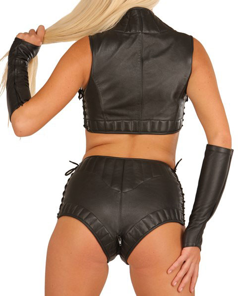 Leather Bustier Sexy Clubwear