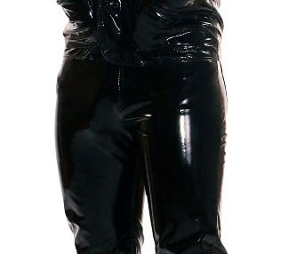 PVC Trousers for Men Skinny Fit