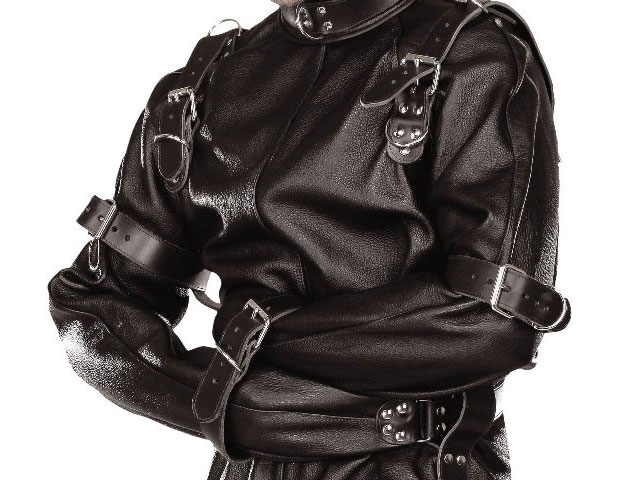Armsdown Straitjacket in Leather with Pants