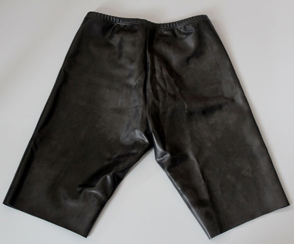Twisted Latex Cycle Shorts