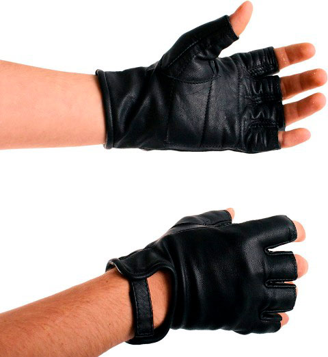 Leather Biker Mitts