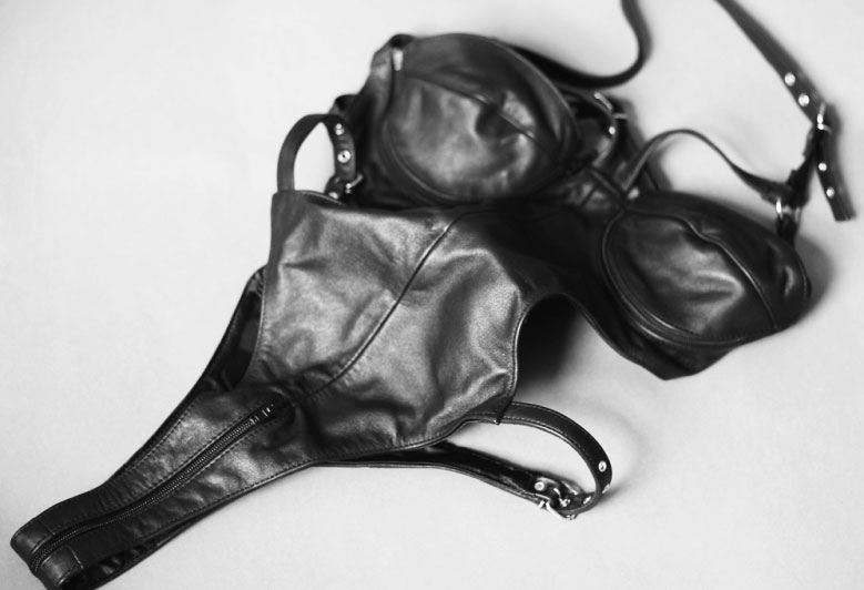 Leather Teddy with Removable Cups