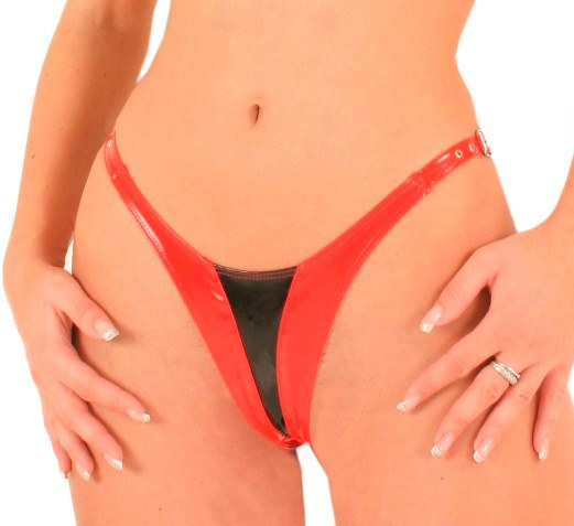 G-String in Contrast Colour PVC