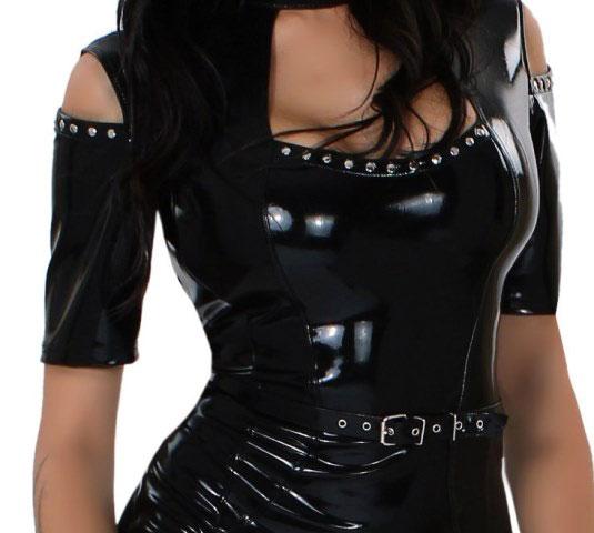 Latex Dress with Collar