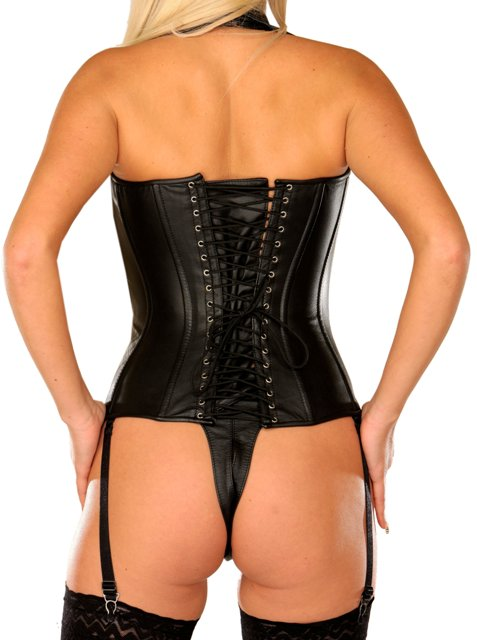 Stunning Halterneck Leather Corset