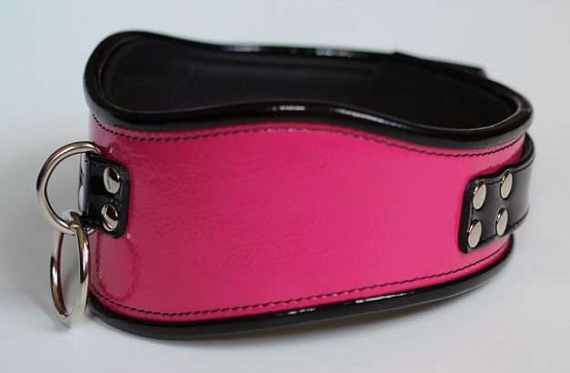 Posture Collar in Pink Patent Leather