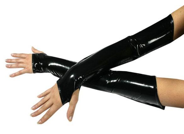 Fingerless Opera Gloves Over the Elbow