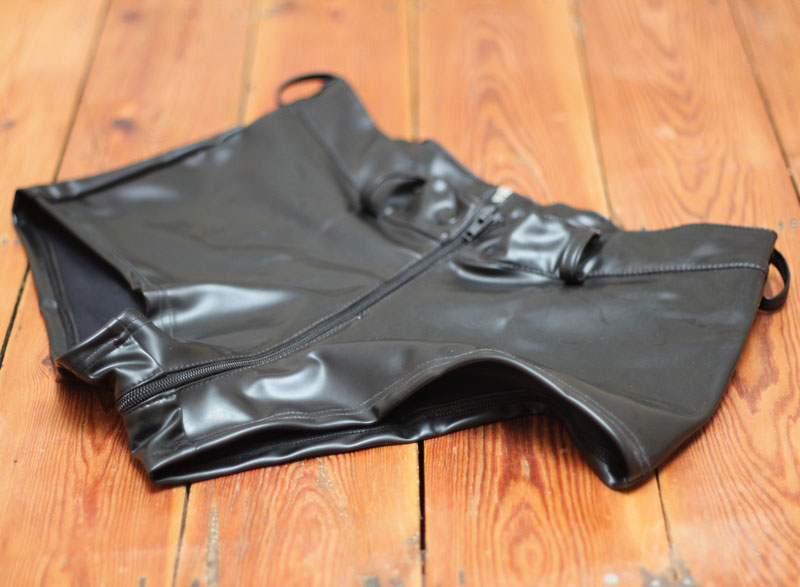 Low Waist Latex Shorts