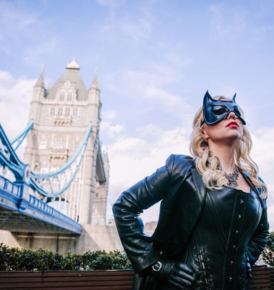 Catwoman - Eye Mask in Leather