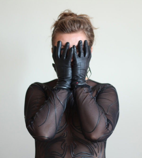 Lycra Catsuit with Latex Print