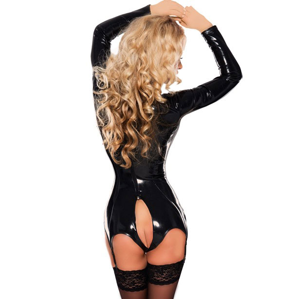 Dominatrix Bodysuit with Open Crotch
