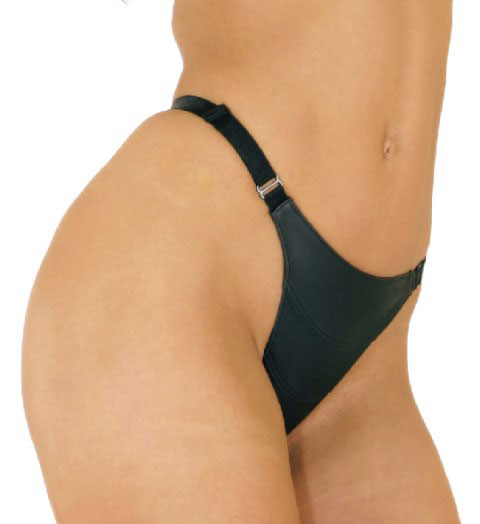 Panel Front Leather G-String