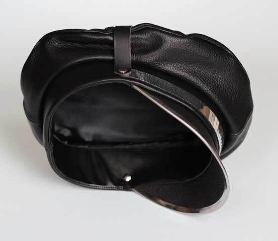 Military Hat with Silver Panel