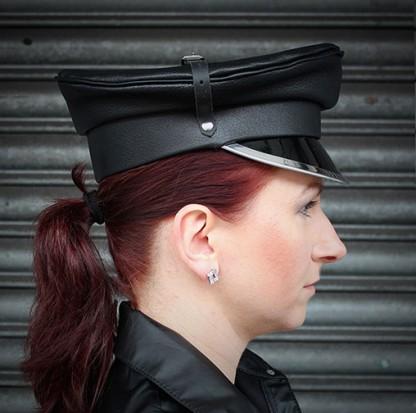 Military Hat with Shiny Peak