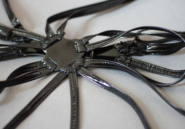 Harness with Garters in Eco Leather