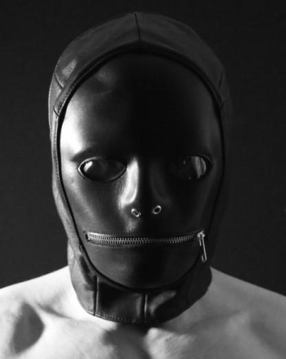 Leather Gimp Hood